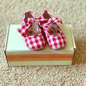 Livie and Luca Red Gingham Shoes Size 8